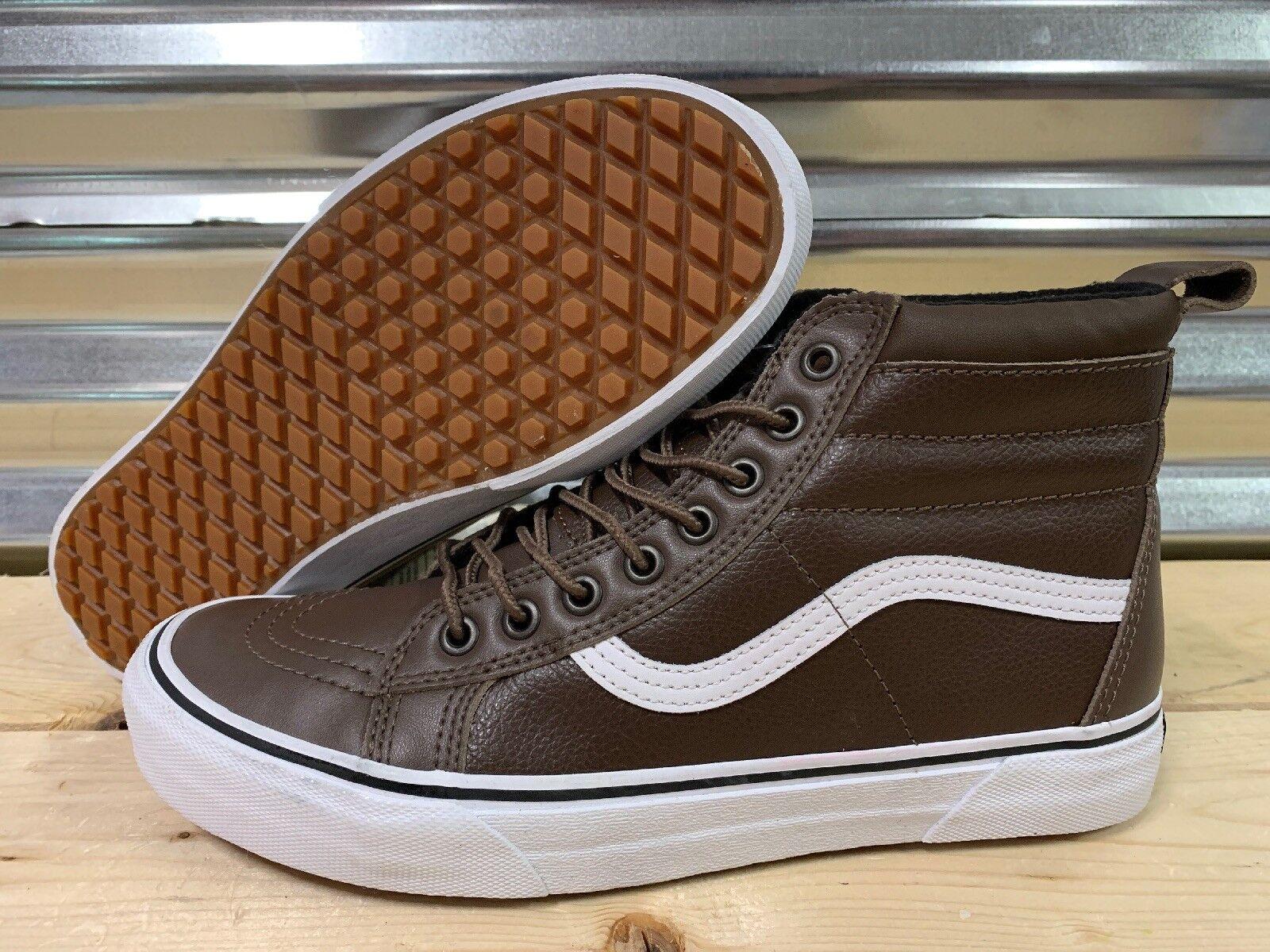 Vans Sk8 Hi MTE Warm Lining SB shoes Rain Drum Brown Leather SZ 9 (VN0A33TXUQC)