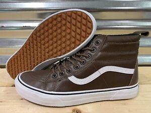 246d8b0ba70c16 Vans Sk8 Hi MTE Warm Lining SB Shoes Rain Drum Brown Leather SZ 9 ...