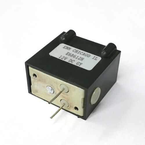 Electric-Mechanical Counter Non-Resettable NEW ENM E6B612H 12V DC 6 Digit