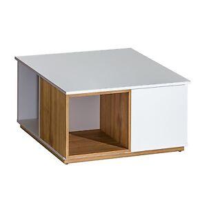 couchtisch kaffetisch evado brillant wei nu baum ebay. Black Bedroom Furniture Sets. Home Design Ideas