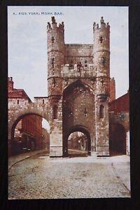 YORK-Monk-Bar-Vintage-Colour-Photochrom-Postcard-A-4729-Unused