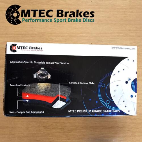 270bhp 08-15Rear Brake Discs /& MTEC Premium Brake Pads Audi TT 2.0TTS Quattro