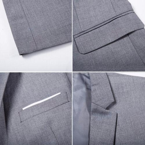 Herren Sakko Anzug Jacken Sweatjacke Slim Freizeit Formell Blazer Mantel Blazers