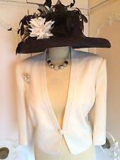 JACQUES VERT Cream Bolero Jacket Suit Wedding Mother of the Bride Plus Size 18