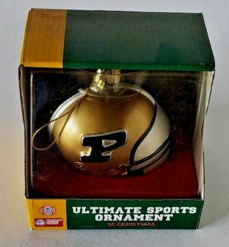 NCAA PURDUE BOILERMAKERS Glass Ultimate Sports SC Christmas Ornament NEW IN BOX