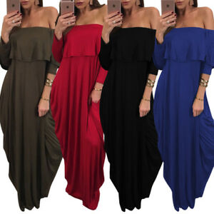 92e01222c7b Image is loading Casaul-Womens-Off-Shoulder-Jumpsuit-Bodycon-Loose-Clubwear-