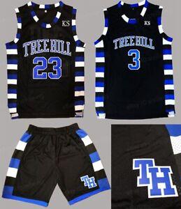 Details about Nathan Scott 23 Lucas Scott 3 One Tree Hill Ravens Basketball Jersey Shorts Set