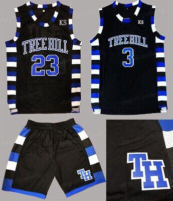 Lucas Scott 3 One Tree Hill Ravens Movie Basketball Black Stitched Jersey by jersey X-Large