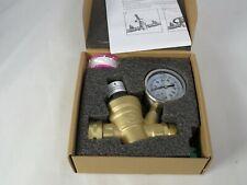 12 Inch Brass Water Pressure Reducing Valve With Gauge Flow Adjustable New