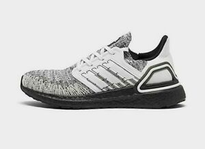 Adidas-Originals-Women-039-s-Ultraboost-20-Shoes-NEW-AUTHENTIC-White-Black-FY8982