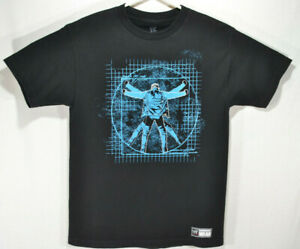 Chris-Jericho-y2j-T-Shirt-Official-WWE-WRESTLING-Light-It-Up-Herren-Medium-schwarz