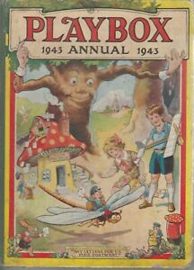 Playbox-A-Picture-and-Story-Book-for-Children-1943-Annual-Hardback-35th-Ed