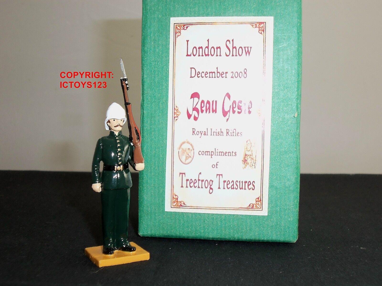 BEAU GESTE ROYAL IRISH RIFLES LONDON SHOW 2008 METAL TOY SOLDIER FIGURE