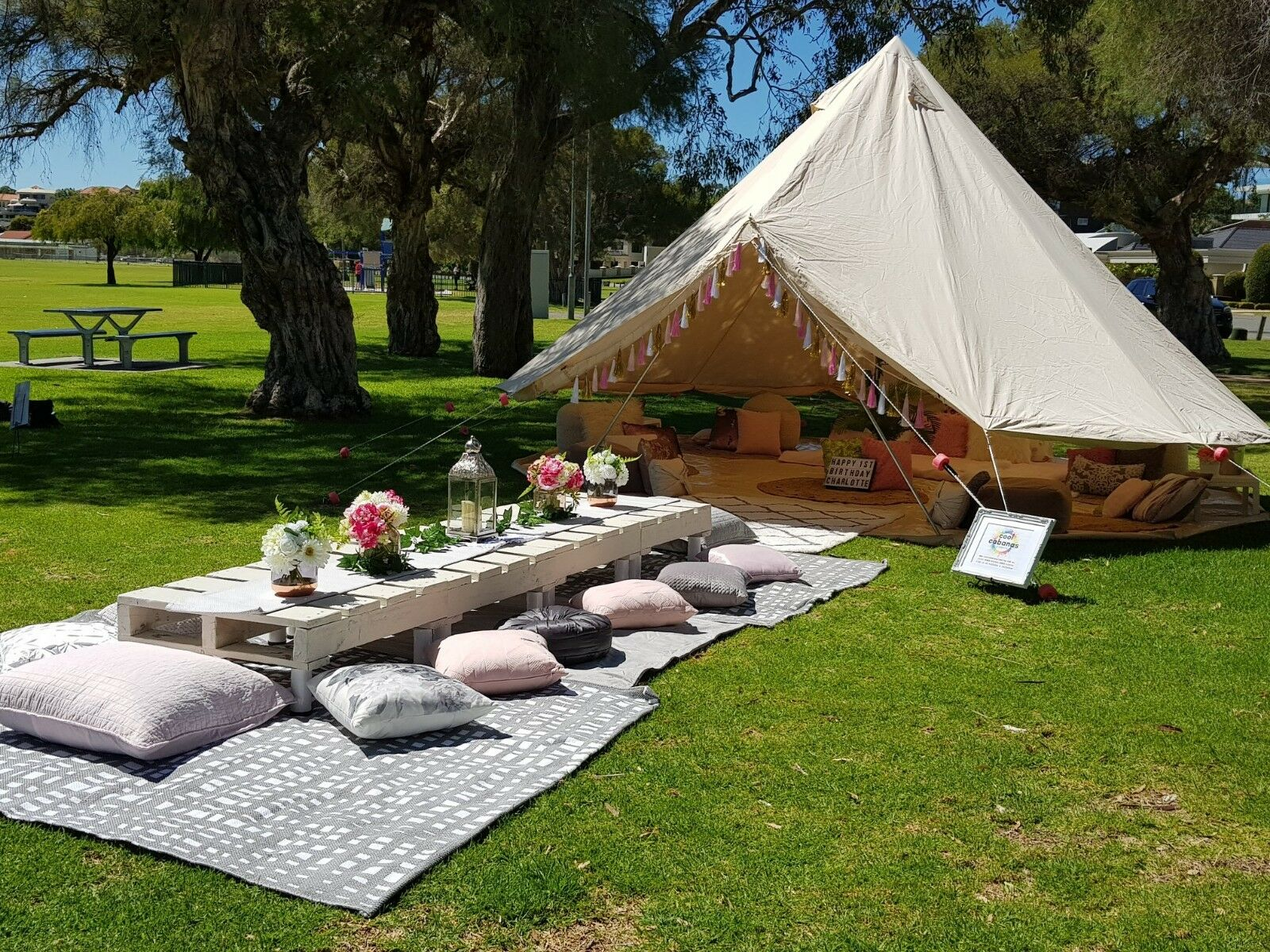 3M 4M 5M 6M Cotton Canvas Bell Tent Waterproof Hunting  Camping Yurt Tent Luxury  outlet store
