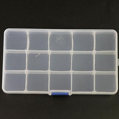 New Adjustable Storage Box 15 Slots Plastic Case Organizer For Jewelry Beads 1pc