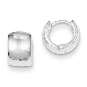 Sterling-Silver-Polished-Huggy-Style-Hinged-Earrings-6mm-x-8mm
