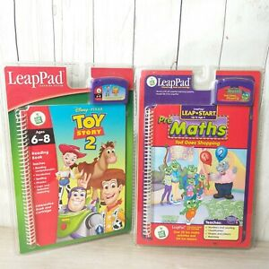 LeapPad-Lead-Pad-Toy-Story-2-And-Pre-Maths-Tad-Goes-Shopping-Bundle-New-Sealed