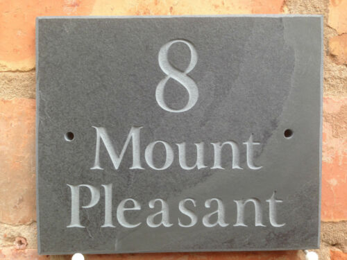 "FAST DISPATCH!! NUMBER! Slate House Sign Door Gate plaque 6/"" x 5/""  ANY NAME"