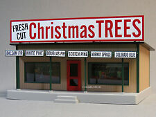 MTH RAIL KING LIGHTED CHRISTMAS TREE HOUSE ROADSIDE STAND train store 30-90504