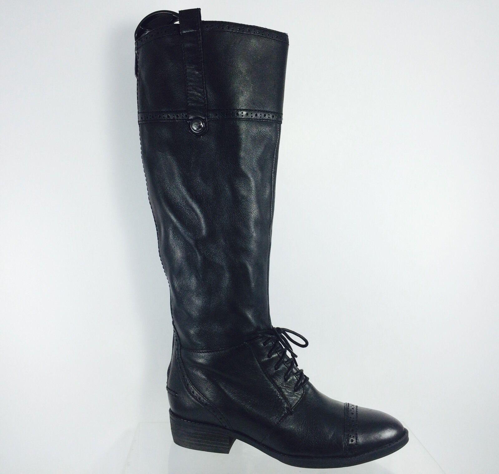 Sam Sam Sam Edelman Mujeres Cuero Negro botas de Moda de la rodilla 7 M  almacén al por mayor