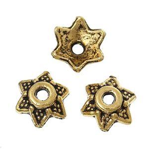 50x-Capuchons-de-Perles-Embouts-des-d-039-extremite-filigrane-Fleurs-pour-8-mm-Metal