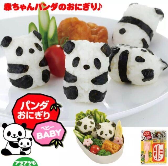 Hot Sushi Rice Ball Mold Onigiri Mould Nori DIY Maker Bento Tool Panda Shape