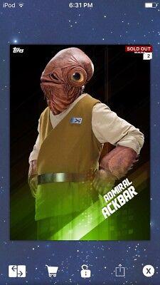 Topps Star Wars Digital Card Trader Admiral Ackbar Vintage Insert