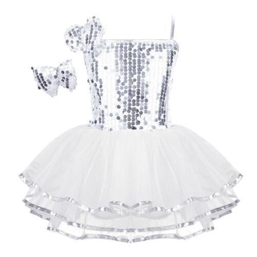 Girls Kids Ballet Jazz Sequins Dance Dress Modern Tap Leotard Hip Hop Dancewear
