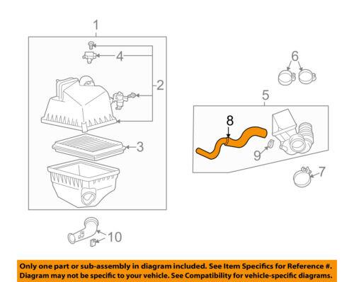 TOYOTA OEM Air Cleaner Intake-Vent Hose Tube 1226120020