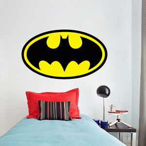 Image Is Loading Batman Logo Superhero Wall Decal DC Comic Decals