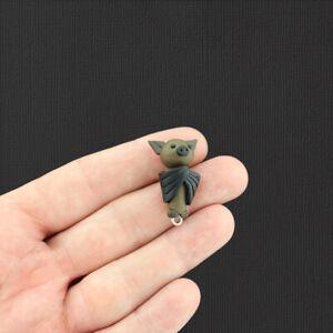 Necklace with kawaii Polymer Clay bat charm bat necklace handmade