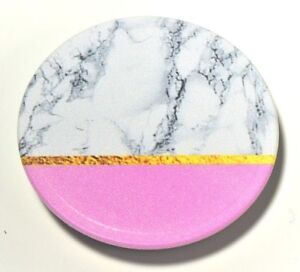 Universal-Pop-Up-Cell-Phone-Holder-Grip-Mount-Expanding-Stand-Half-PINK-MARBLE