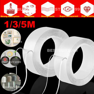 Nano-Magic-Tape-Gel-grip-Double-Sided-Traceless-Washable-Adhesive-Invisible-2mm