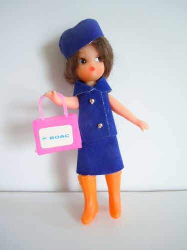 Vintage BRITISH OVERSEAS AIRLINE CORPORATION BOAC Souvenir Doll Excellent
