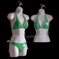 Flesh Female Dress Mannequin + Female Torso Form Set - For S-M Clothing Sizes