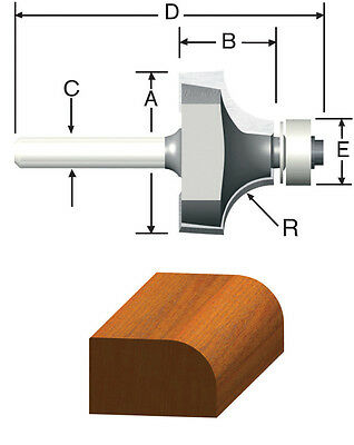 """Vermont American Carbide Tipped 1//8/"""" Bull Nose Router Bit New 23156"""