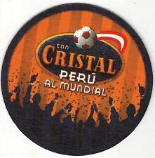 Peru Coaster Beer Cristal Peru al Mundial Soccer