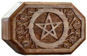Image Is Loading Octagon Pentagram Wooden Box Wiccan Pagan Metaphysical Home