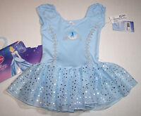 Capezio Disney Princess Leotard Dress Cinderella Hologram Ss Cute Girl