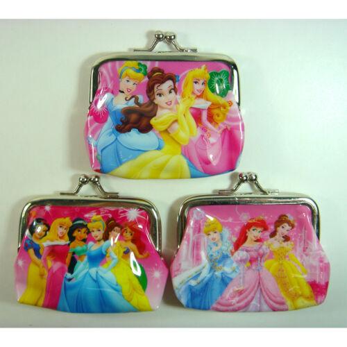 NEW 3 pcs Disney Princess Cinderella Belle Ariel Coins Coin Pouch Purse Bag SET