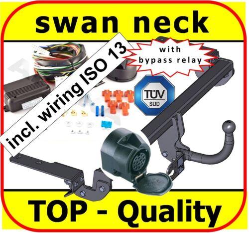 Towbar /& Electrics ISO 13pin Citroen C-4 C4 Grand Picasso 2006-2013swan neck