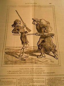 AgréAble Caricature 1877 Vainqueurs Mais Affamés Transpercée Par Une Biallonnette Ventre Forme éLéGante
