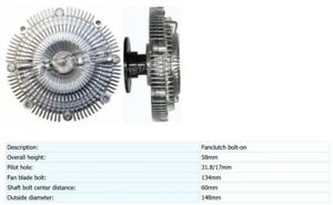 Details about Viscous Fan Clutch Coupling Hub for Nissan Skyline R32 Stagea  260Z 115836