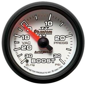 Autometer Phantom II Vacuum Boost Press Gauge, 2-1/16 inch Mechanical #7503