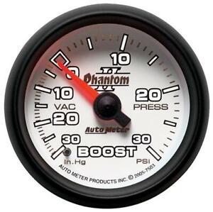 Autometer Phantom II Vacuum Boost Press Gauge, 2-1/16 inch Mechanical #7503