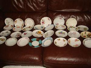 30-x-saucers-vintage-bone-china-lot-A-wedding-tea-party-vgc