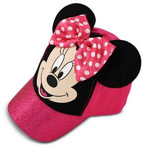 Disney-Minnie-Mouse-Bow-tique-Algodon-Gorra-de-beisbol-las-ninas-pequenas-edad-4-7