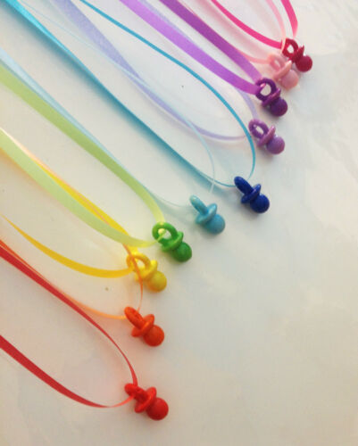 Don/'t Say Baby-Baby Shower Game Dummy Necklace Charm Party Decoration Girl Boy