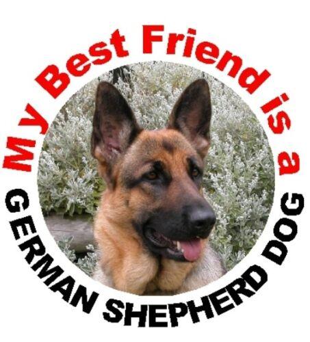 2 German Shepherd Dog MBF Car Stickers By Starprint