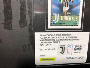 2018-Folder-Juventus-Campione-d-039-Italia-2017-18-Trifoglio-Intero-su-Tessera-Fil